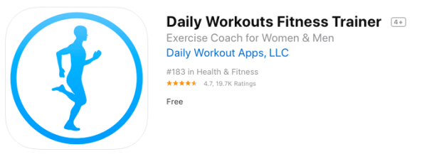 daily workout fitness tariner- best health and fitness apps for 2021