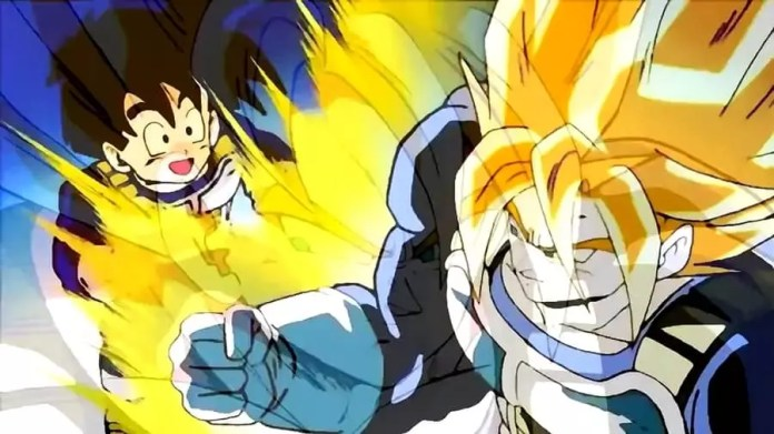 Goku and Gohan in the hyperbolic time chamber