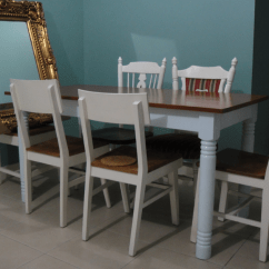 Painted Tables And Chairs Chair With Adjustable Legs Diy Session 3 Painting The Dining Table Vie Est Art Paint 06