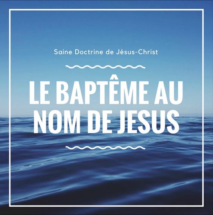 LE BAPTÊME BIBLIQUE - Vie et Lumière El Shaddai