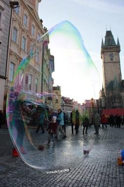 Artistas callejeros y calles de Praga
