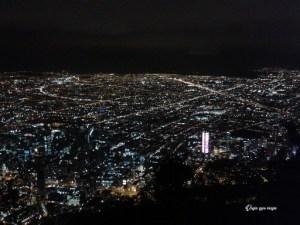 Bogotá de noche, vista desde Monserrate