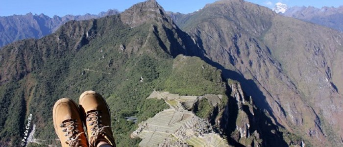 Yo en la cima del Huayna Picchu