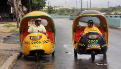 Cocotaxis en Cuba