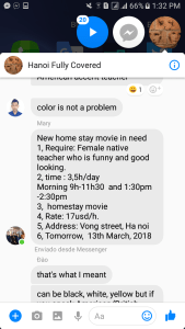 A good looking English teacher