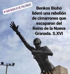 Monumento a Benkos Biohó en san Basilio de Palenque