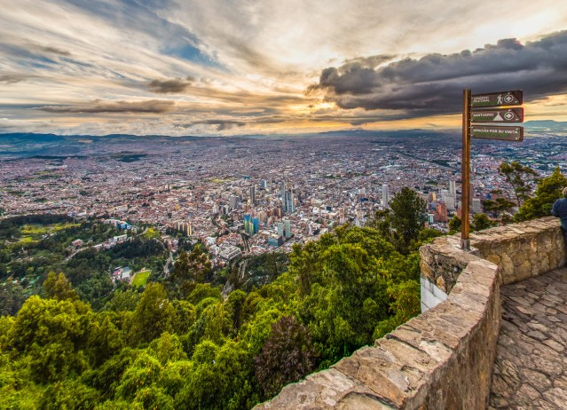 """""""Sanctuary of Our Lady of Monserrate"""" in Bogotá, Colombia."""