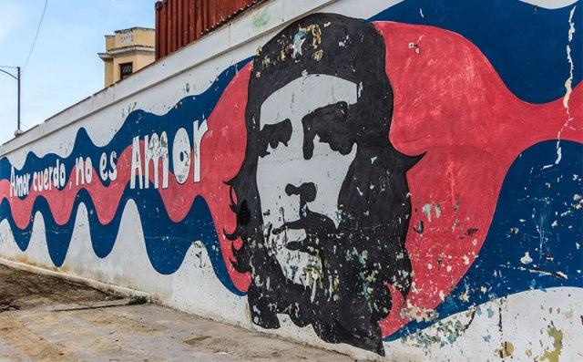 Kubas Sehenswürdigkeiten: Che Guevara Street Art Havanna
