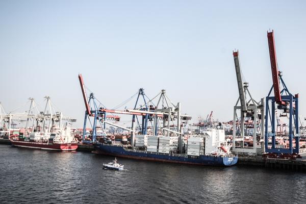 HafenCity und der Hafen in Hamburg