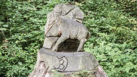 Wildschwein Skulpturenweg
