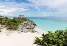 Mexiko Tulum Maya Ruinen direkt am Meer