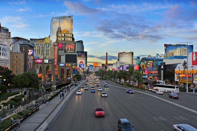 Sehenswürdigkeiten in Las Vegas: Strip am Tag