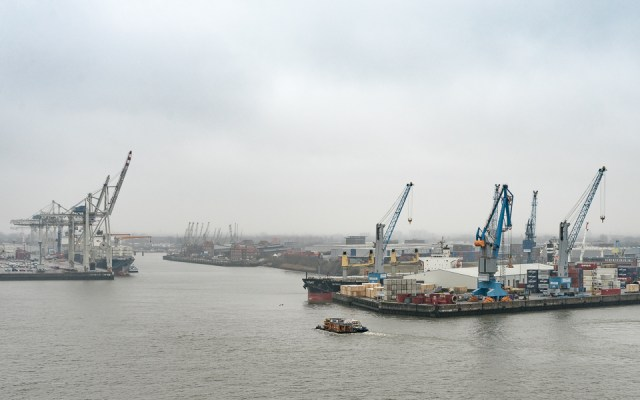Aussichtsplattform Elphie Hamburger Hafen