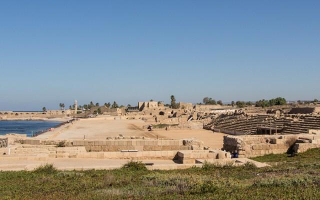 Die eindrucksvollen Ruinen der Hafenstadt Caesarea