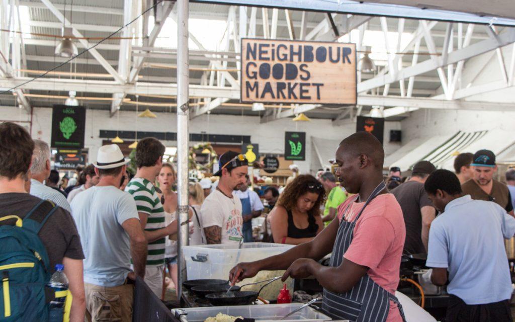 Buurgoederenmarkt Woodstock Kaapstad