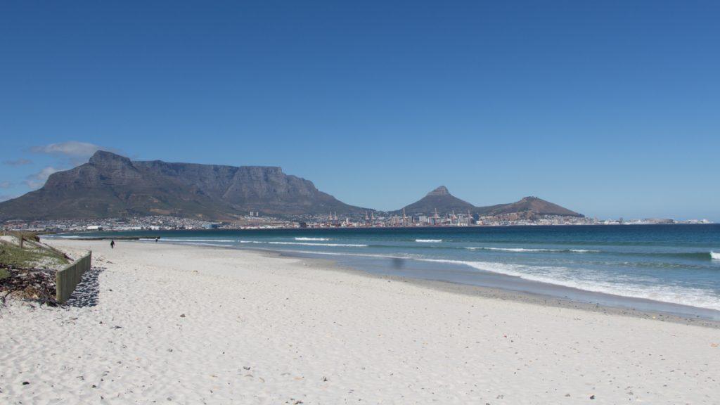Bloubergstrand Tafelberg Kaapstad