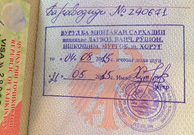 Visum Tadschikistan GBAO Permit für Pamir
