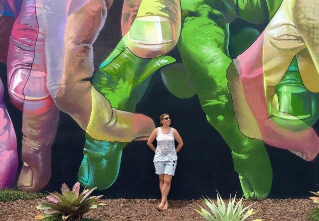 Miami Sehenswürdigkeiten Katrin an den Wynwood Walls