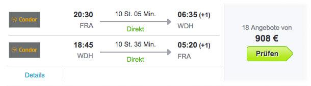 Flug Frankfurt Windkoek buchen