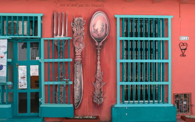 Bunte Häuser in Cartagenas Altstadt und Getsemani