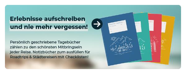 Koop een notitieboek voor een reisverslag