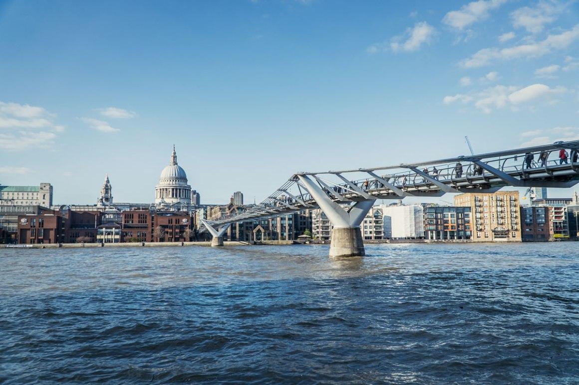 Millenium Bridge Harry Potter Londen filmlocatie