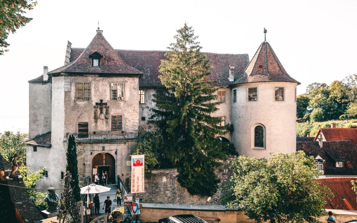 Het kasteel (oud kasteel) Meerburg Bodensee