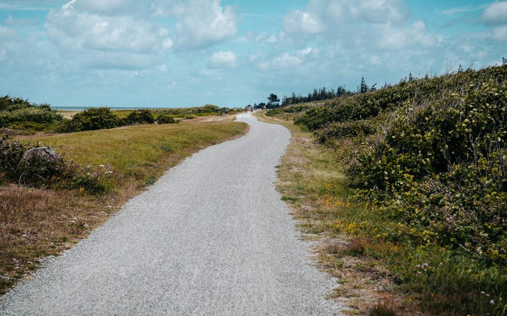 Flügger Strand fietsen