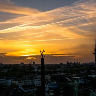 Sonnenuntergang im Bremer Westen