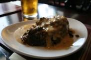 Haggis and Black Peppercorn Sauce