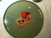 Mikla: Sütlaç Rice Pudding With Mastic, Roasted Hazelnut, Black Mulberry Crisp, Strawberry Sorbet