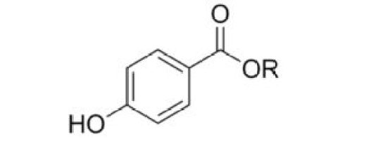 Formula chimica dei parabeni nei cosmetici