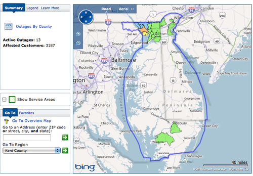 Delmarva Power Service Territory Map