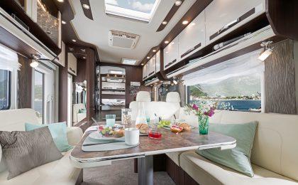 Auf Fünf-Sterne-Komfort muss man auch beim Kochen in einem exklusiv ausgestatteten Reisemobil nicht verzichten.