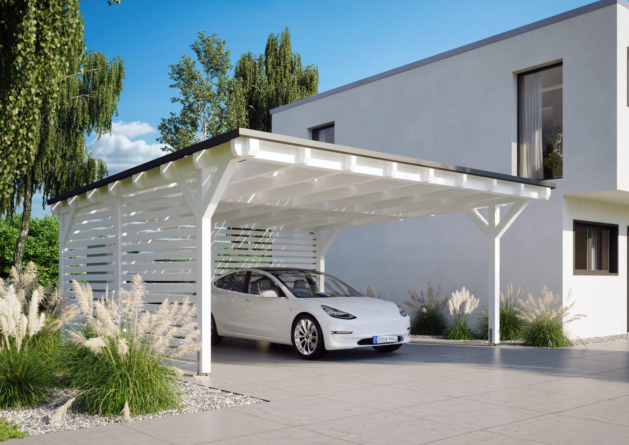 Carport mit Solardach