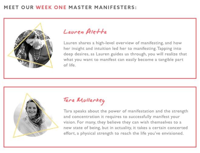 Manifest More Week 1