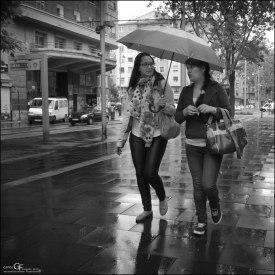 Hablando bajo la lluvia