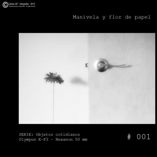 Manivela y flor de papel (Objetos cotidianos #001)