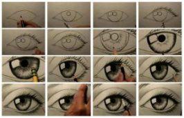 cum se deseneaza un ochi