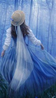 albastru in ceata albastra