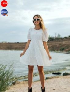 Rochia albă elegantă de pe plajă - poveste