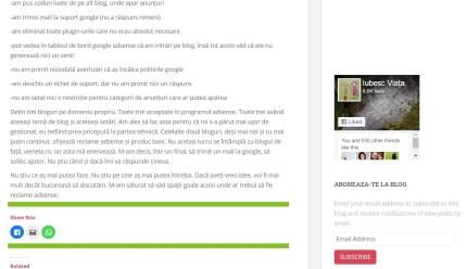 Reclame adsense pe blog nu apar, ci doar spațiu gol