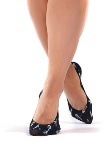 Șosete scurte și tălpici de damă - bumbac, microfibră, lycra
