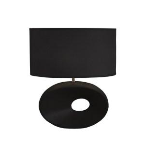 lampa ceramica neagra