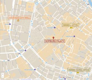 Map of Vienna's City Center