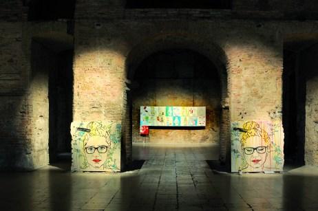 """Kriszta Nagy x-T """"UN-LIFE pseudo-porno pseudo death"""" interieur at Kiscelli Museum"""