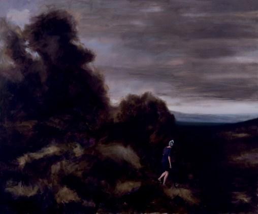 Matthias Lautner, The Hunt (Nr.1), 2014, Oil and acrylic on canvas, 100 x 120 cm, Foto: Christof Aigner © Bäckerstraße 4