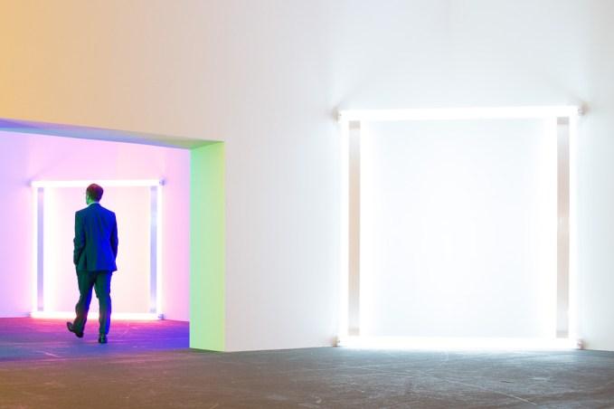 Dan Flavin, art basel 2015, Photo: Kristina Kulakova