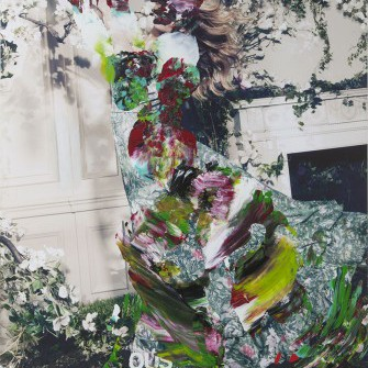 Sofie Bird Møller, Interaction, Painting, 170x140x5 cm, 2014, Martin Asbaek Gallery, photocredit: courtesy of the gallery