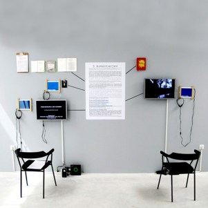 Joze Barsi, 5 Comments, installation with video, P74, 2010, photocredit: courtesy of the gallery